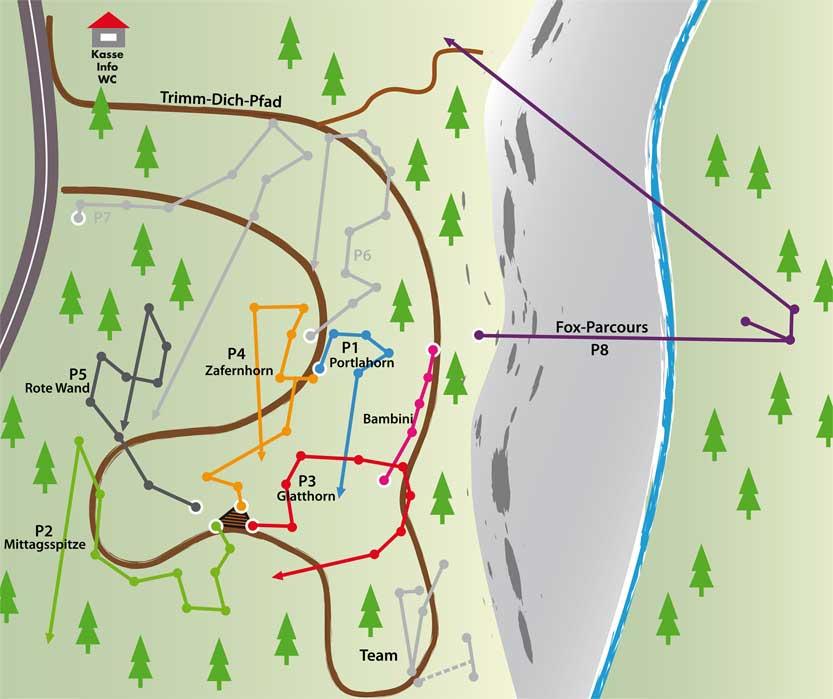 Waldseilgarten-Parcours